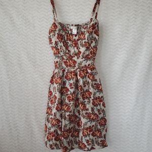 Poetry flowered spaghetti strap dress